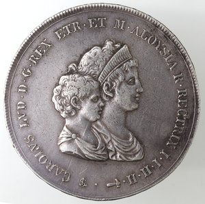 obverse: Zecche Italiane.Firenze.Carlo Ludovico di Borbone. 1803-1807. Dena 1807.Ag. Gig. 11. Peso gr. 39,06.Diametro mm. 46. BB-BB+.