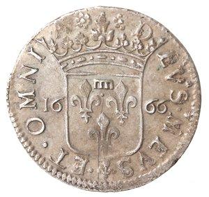 reverse: Zecche Italiane. Fosdinovo. Maria Maddalena Centurioni Malaspina. 1663-1669. Luigino anonimo 1666. Ag. Camm.066. Peso gr. 2,03. Diametro mm. 20,50. SPL+. Bella patina.