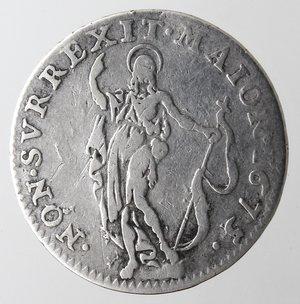 reverse: Zecche Italiane.Genova.Dogi Biennali. 1528-1797.10 soldi 1675.Ag. Mir. 328/5.Peso gr. 2,34. Diametro mm. 20,50. BB.