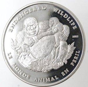reverse: Monete Estere. Congo. 1000 Franchi 2003. Ag 990. Km. 50. Peso gr. 19,90. Diametro mm. 40.FDC Proof.