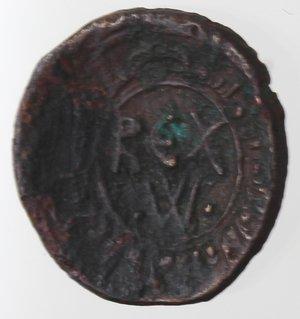 obverse: Zecche Italiane. Messina. Guglielmo I. 1154-1166. Frazione di follaro. Ae. Sph. 99. Peso gr. 1,45. Diametro mm. 14. BB+.