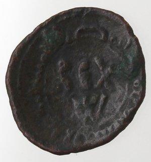 obverse: Zecche Italiane. Messina. Guglielmo I. 1154-1166. Frazione di follaro. Ae. Sph. 99. Peso gr. 0,79. Diametro mm. 13. BB.