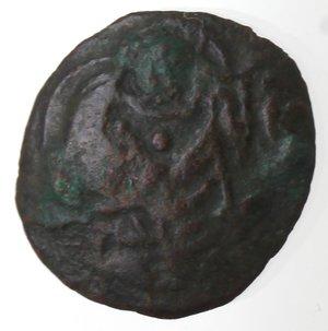 reverse: Zecche Italiane. Messina. Guglielmo I. 1154-1166. Frazione di follaro. Ae. Sph. 99. Peso gr. 0,79. Diametro mm. 13. BB.