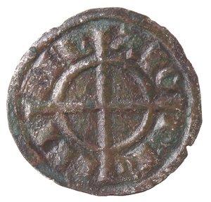 reverse: Zecche Italiane. Messina. Federico II. 1197-1250. Denaro. Mi. Busto frontale. Sph. 121. Peso gr. 0,68. SPL. R.