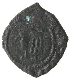 obverse: Zecche Italiane. Messina. Federico III d Aragona. 1296-1337. Denaro. Ae. Peso gr. 0,71. Diametro mm. 13,00. BB+.
