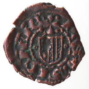 reverse: Zecche Italiane. Messina. Alfonso. 1416-1458. Denaro. Ae. Mir. 227. Peso gr. 0,64. Diametro mm. 15,00. qSPL. NC.