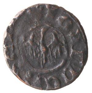 reverse: Zecche Italiane. Messina. Giovanni d Aragona. 1458-1479. Denaro. Sigle II. Ae. Sp. 126/131. Peso gr. 0,51. Diametro mm. 14,00. Bel BB.