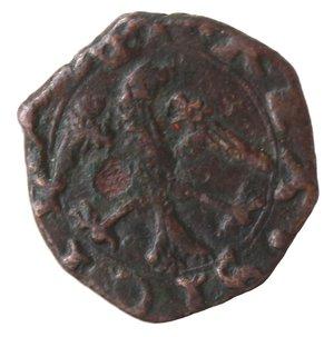 reverse: Zecche Italiane. Messina. Filippo II. 1556-1598. 2 Piccioli. Ae. Sp. 127. Peso gr. 1,06. Diametro mm. 13,50. qSPL. Difetto al rovescio.