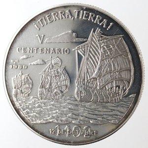 reverse: Monete Estere. Cuba. 10 Pesos 1989. Ag 999. Km. 238. Peso gr. 20,04. Diametro mm. 38.FDC Proof.