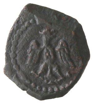obverse: Zecche Italiane. Messina. Filippo III. 1598-1621. 3 Piccioli. Sigle IP. Data? Ae. Peso gr. 1,83. Diametro mm. 14. qSPL. Patina scura.