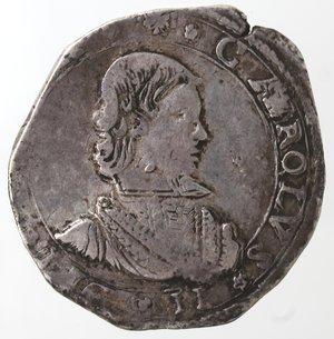 obverse: Zecche Italiane. Messina. Carlo II. 1665-1700. 4 tarì 1665. Ag. Sigla DG V. Zecchiere Gregorio Vigevi. Sp. 1. MIR 364. Peso gr. 10,51. Diametro mm. 29. qSPL. R.