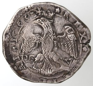 reverse: Zecche Italiane. Messina. Carlo II. 1665-1700. 4 tarì 1665. Ag. Sigla DG V. Zecchiere Gregorio Vigevi. Sp. 1. MIR 364. Peso gr. 10,51. Diametro mm. 29. qSPL. R.
