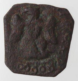 reverse: Zecche Italiane. Messina. Carlo II. 1665-1700. 3 Piccioli. Ae. Sigla DI BV. Zecchiere GB Vigevi. Sp. 25. Peso gr. 1,04. Diametro mm. 14. qSPL. R.