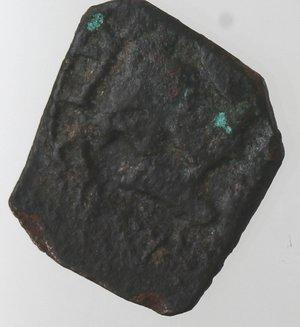 reverse: Zecche Italiane. Messina. Carlo II. 1665-1700. 3 Piccioli. Ae. Sigla DI BV. Zecchiere GB Vigevi. Sp. 25. Peso gr. 0,91. Diametro mm. 14. qBB. R.