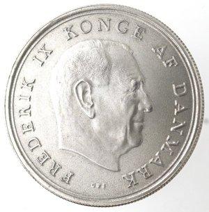 obverse: Monete Estere. Danimarca. 10 Corone 1967. Ag 800. Km. 856. Peso gr. 20,50. Diametro mm. 36.qFDC.