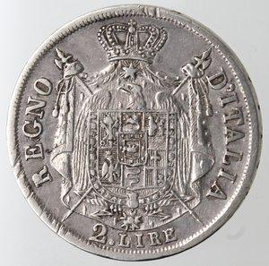 reverse: Zecche Italiane. Milano. Napoleone. 1805-1814. 2 Lire 1809. Ag. Gig. 129. Peso gr 9,93. qSPL. Marginali graffi di conio. NC.