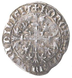obverse: Zecche Italiane. Napoli. Roberto d Angiò. 1309-1343. Gigliato. Ag. MIR 28. Peso gr. 3.98. Diametro mm. 28. BB.