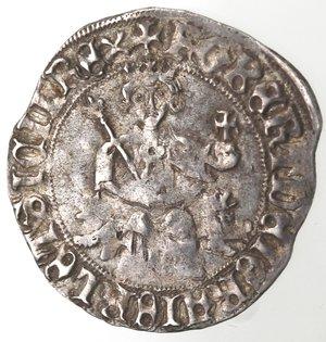reverse: Zecche Italiane. Napoli. Roberto d Angiò. 1309-1343. Gigliato. Ag. MIR 28. Peso gr. 3.98. Diametro mm. 28. BB.