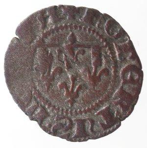 obverse: Zecche Italiane. Napoli. Roberto d Angiò. 1309-1343. Denaro. Mi. Gigli sotto l asta. MIR 29/2. Peso gr. 0,43. Diametro mm. 15. MB. R.