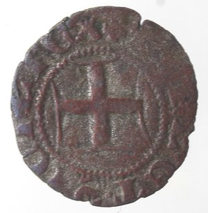 reverse: Zecche Italiane. Napoli. Roberto d Angiò. 1309-1343. Denaro. Mi. Gigli sotto l asta. MIR 29/2. Peso gr. 0,43. Diametro mm. 15. MB. R.