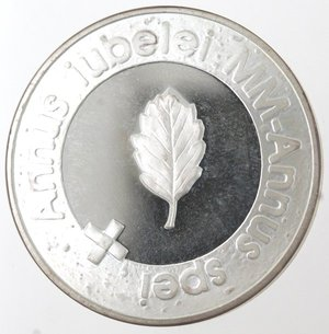 reverse: Monete Estere. Finlandia. 100 Markkaa 2000. Ag 925. Km. 92. Peso gr. 22,12. Diametro mm. 35.FDC Proof. Patina.