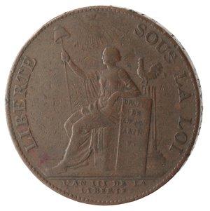 obverse: Monete Estere. Francia. Moneta-medaglia da due sols 1791.Ae. V.G. 233. Peso gr. 16,45. Diametro mm. 31,50. MB. R.