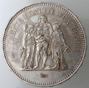 reverse: Monete Estere. Francia. 50 Franchi 1976. Ag. Km. 941.1. Peso gr. 30,00. Diametro mm. 41.qFDC.