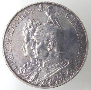obverse: Monete Estere.Germania-Prussia.Guglielmo II. 1888-1918.5 marchi 1901.Ag. KM 525.Peso gr. 27,84. SPL. Piccolo colpetto al bordo.