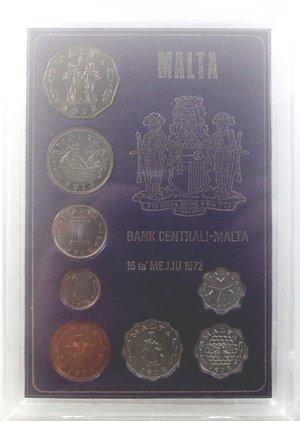 obverse: Monete Estere. Malta. Divisionale 1972. Metalli vari. FDC. In confezione della zecca.