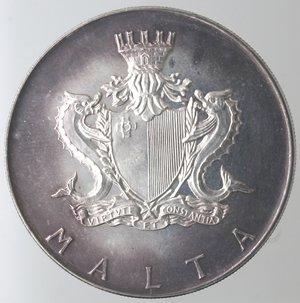 obverse: Monete Estere. Malta. 2 Lire Maltesi 1972. Ag 987. Km. 14. Peso 20,00 gr. Diametro 38,00 mm. FDC. Proof.