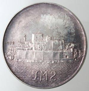 reverse: Monete Estere. Malta. 2 Lire Maltesi 1972. Ag 987. Km. 14. Peso 20,00 gr. Diametro 38,00 mm. FDC. Proof.