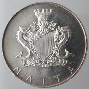 obverse: Monete Estere. Malta. 2 Lire Maltesi 1973. Ag 987. Km. 20. Peso 20,00 gr. Diametro 38,00 mm. FDC. Proof.