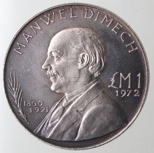 obverse: Monete Estere. Malta. Lira Maltese 1972. Ag 987. Km. 13. Peso 10,00 gr. Diametro 32,00 mm. FDC. Proof.