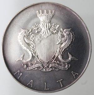 reverse: Monete Estere. Malta. Lira Maltese 1972. Ag 987. Km. 13. Peso 10,00 gr. Diametro 32,00 mm. FDC. Proof.