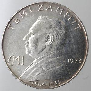 reverse: Monete Estere. Malta. Lira Maltese 1973. Ag 987. Km. 19. Peso 10,00 gr. Diametro 32,00 mm. FDC. Proof.