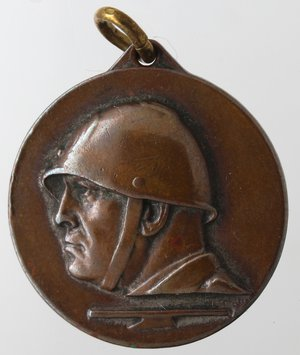 obverse: Medaglie fasciste. Medaglia Napoli. 1934-1935. Ae. II Mostra d arte Coloniale. Diametro mm. 28. SPL.