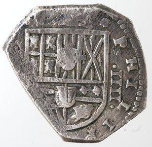 obverse: Monete Estere. Messico. Filippo IV Re di Spagna. 1621-1665. 4 Reales. Ag. Peso 13,51 gr. Diametro 28 mm. qBB.