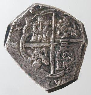 reverse: Monete Estere. Messico. Filippo IV Re di Spagna. 1621-1665. 4 Reales. Ag. Peso 13,51 gr. Diametro 28 mm. qBB.