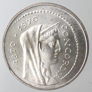 obverse: Repubblica Italiana. 1.000 lire Roma Capitale 1970. Gig. 1.  qFDC.
