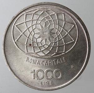 reverse: Repubblica Italiana. 1.000 lire Roma Capitale 1970. Gig. 1.  qFDC.