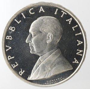 obverse: Repubblica Italiana. 500 Lire. Marconi 1974. Ag. Gig. 416. qFDC. Senza astuccio.