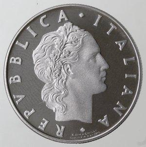 obverse: Repubblica Italiana. 50 Lire 1986. Ac. FDC. Proof.