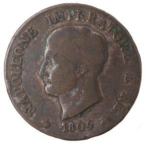 obverse: Zecche Italiane. Milano. Napoleone. Soldo 1809. AE. MB.