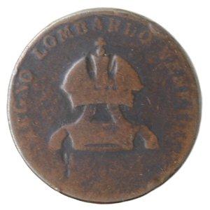 obverse: Zecche Italiane.Milano.Lombardo Veneto. 5 Centesimi 1822. Ae. qMB.