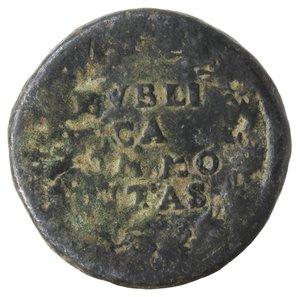 reverse: Zecche Italiane. Napoli. Filippo IV. Pubblica da tre tornesi 1622?. AE. qMB.