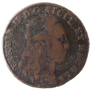 obverse: Zecche Italiane. Napoli. Ferdinando IV. 8 Tornesi 1797. Ae. qMB.
