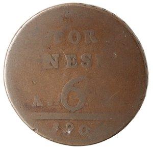 reverse: Zecche Italiane. Napoli. Ferdinando IV. 6 Tornesi 1801. Ae. qMB. NC.