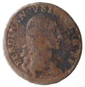 obverse: Zecche Italiane. Napoli. Ferdinando IV. 1 Grano 12 Cavalli 1790 AP. Ae. MB.