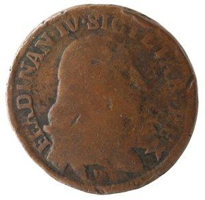 obverse: Zecche Italiane. Napoli. Ferdinando IV. 1 Grano 12 Cavalli 1791. Ae. qMB-MB.