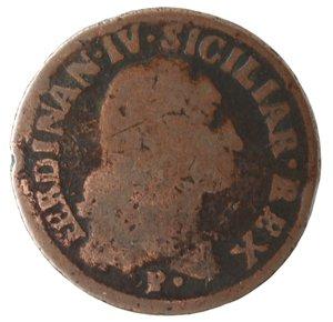 obverse: Zecche Italiane. Napoli. Ferdinando IV. 1 Grano 12 Cavalli 1792. Ae. qMB.